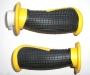 Анатомические ручки руля черно-желтые