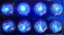 Подсветка светодиодная синяя яркая, 6 модулей