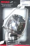 Возд.фильтр нулевого сопротивления TURBO хром. d-38мм 45град. KO